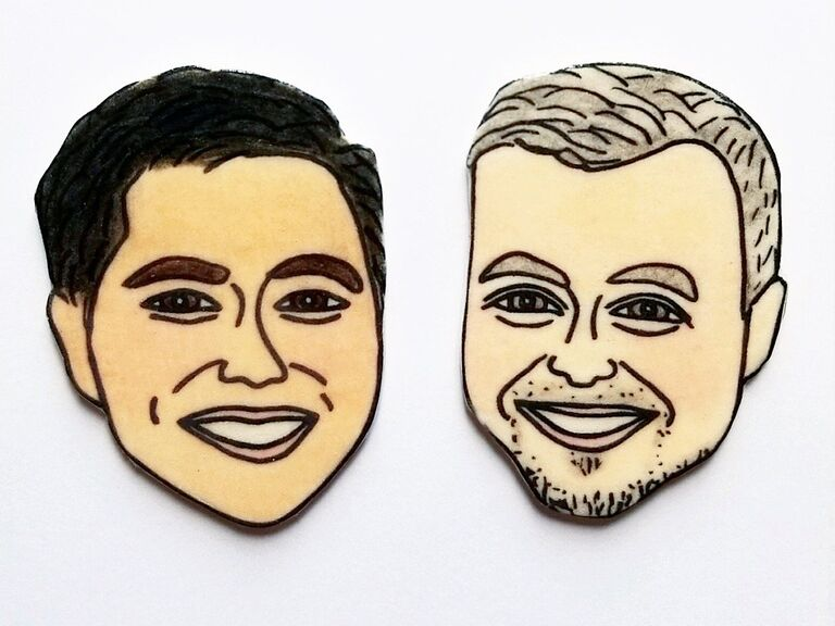face magnet engagement gift for couple