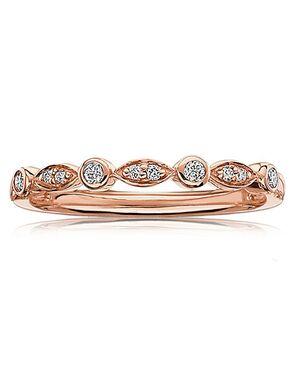 Rogers & Hollands® 6649593 Gold, Rose Gold Wedding Ring