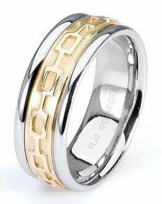 TRUE KNOTS TRUE MAN-2T179 Palladium, Platinum, White Gold Wedding Ring