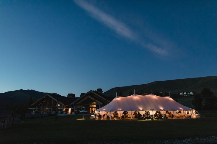 Tented Reception at Sun Valley Resort in Idaho