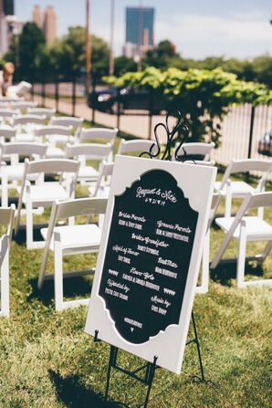 Black and White Ceremony Chalkboard Sign