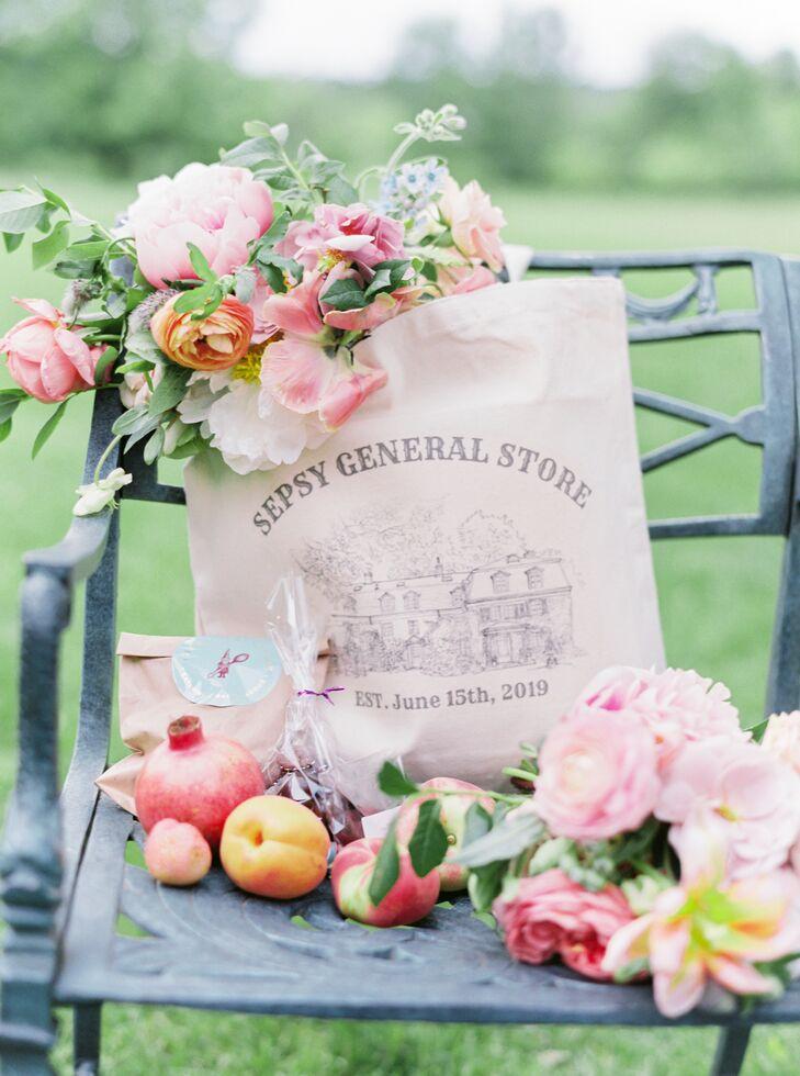 Custom Bags for Wedding Favors at Pennsylvania Wedding