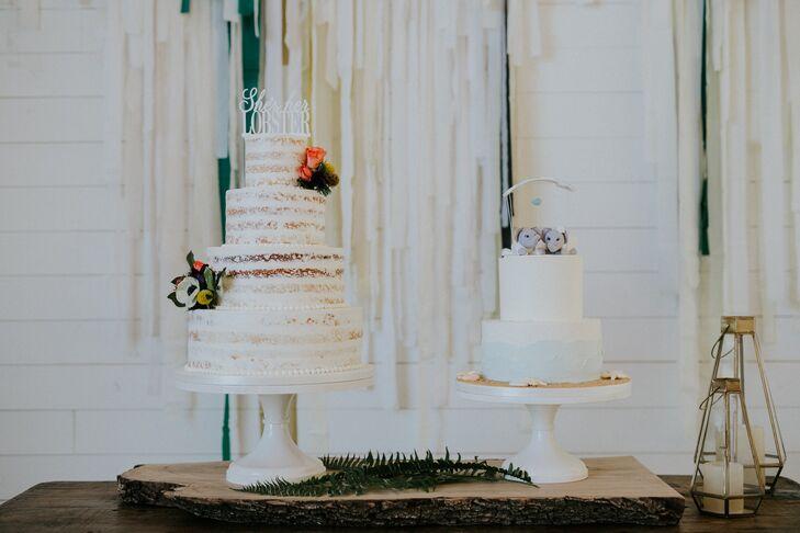 Round Tiered Bohemian Wedding Cakes