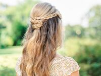 Half-up wedding hairstyle with braids