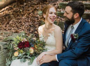 It was all about location for newlyweds Elizabeth Moore (25 and a nurse) and Kevin Hartbauer (31 and works in sales), who hosted all of their wedding-