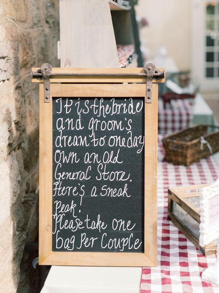 DIY Chalkboard Sign at Pennsylvania Wedding