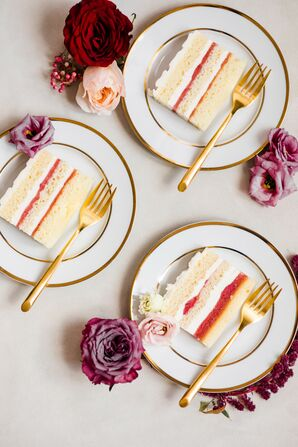 Slices of Cake for Wedding at Toledo Country Club in Ohio
