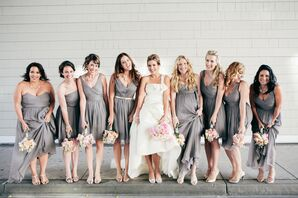 Light Gray J.Crew Bridesmaid Dresses
