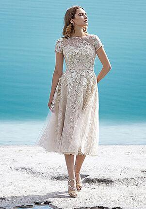 28bcb358eac2 Tea Length Wedding Dresses | The Knot