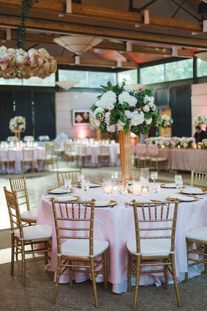 Blush and Gold Dining Table