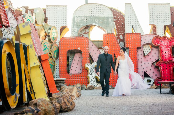 This secret Las Vegas destination elopement was all about spontaneity, friendship and love. After 13 years of being best friends, Stacey Oxley (29 and