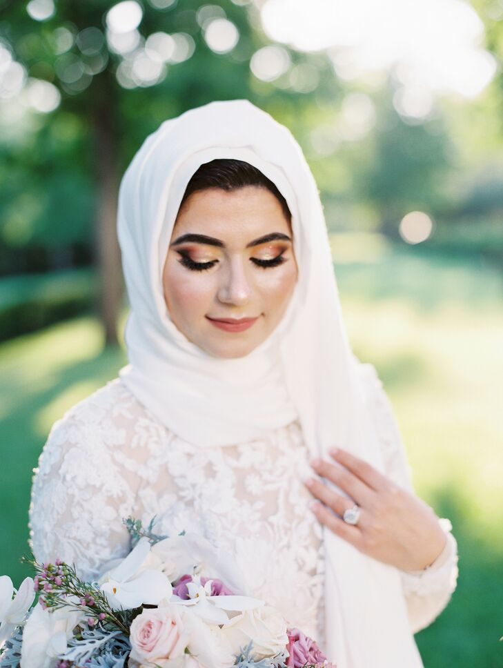 Muslim Bride in Wedding Hijab at the Kansas City Convention Center in Missouri