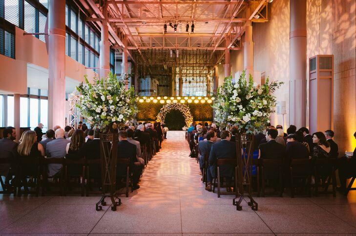 Modern Garden-Inspired Museum Ceremony