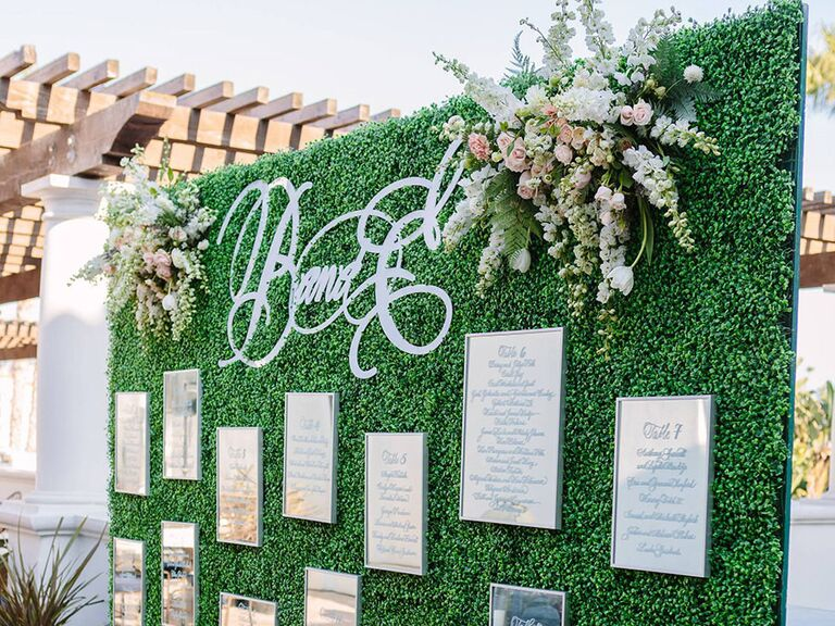 Wedding escort wall
