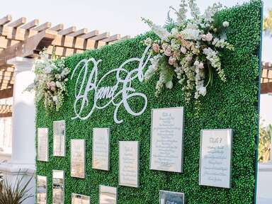 Wedding escort wall