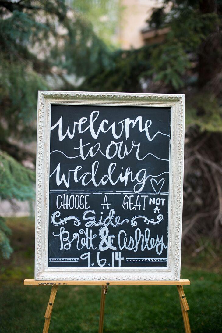DIY Whimsical Chalkboard Welcome Sign