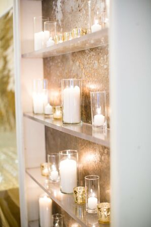 Glamorous Gold Candle Backdrop