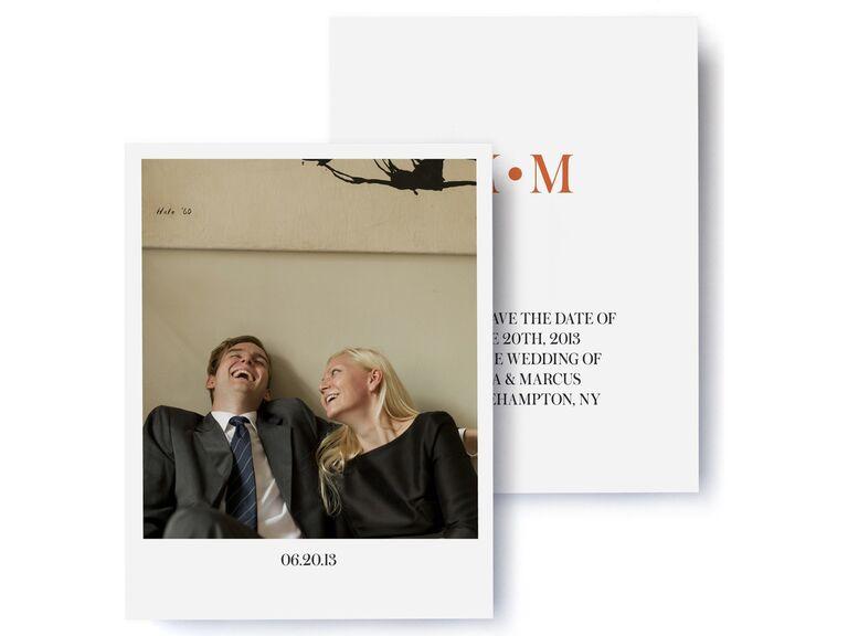 Pinhole Press modern deco photo save-the-date cards