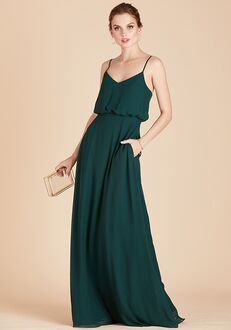 Birdy Grey Gwennie Bridesmaid Dress in Emerald V-Neck Bridesmaid Dress