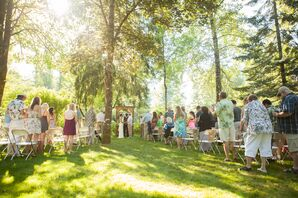 Outdoor Ceremony at Backyard Wedding
