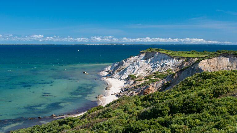 Aquinas, Martha's Vineyard honeymoon bluffs clay cliffs romantic