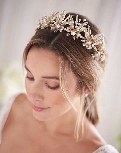 Dareth Colburn Noella Bridal Tiara (TI-3382-G) Gold Tiara