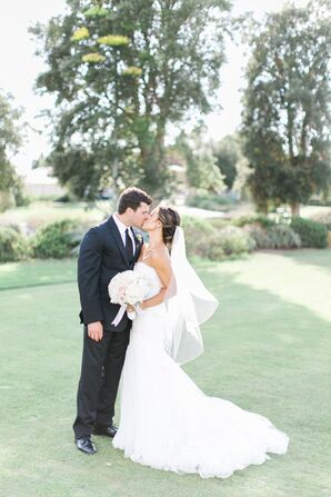 Elegant Garden Wedding, Bride and Groom