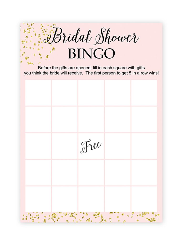 diy bridal shower bingo