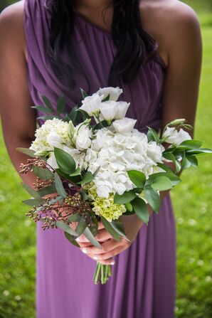 White Rose and Eucalyptus Bouquets