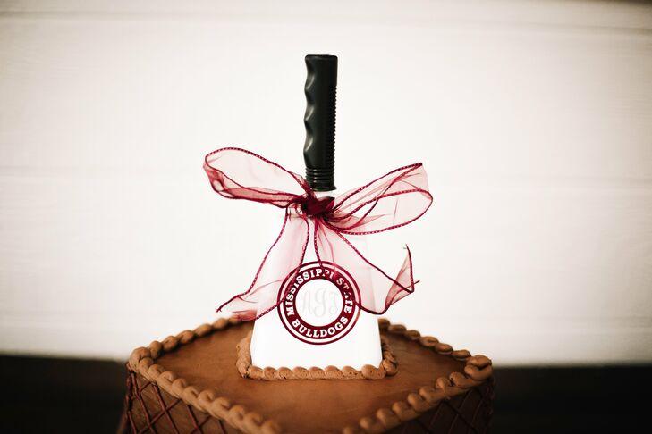 Chocolate Groom's Cake with Collegiate Spatula