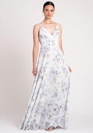 Jenny Yoo Collection (Maids) Dani Print V-Neck Bridesmaid Dress