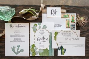 Cactus and Desert-Inspired Invitation Suite