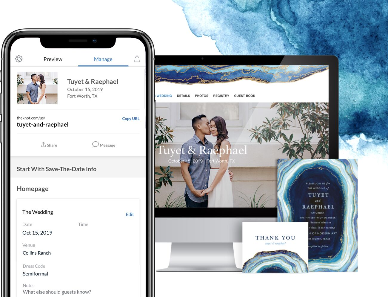 Create Your Wedding Website by The Knot App
