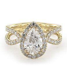 James Allen Unique Pear Cut Engagement Ring