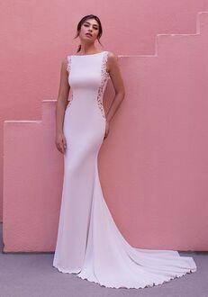 WHITE ONE GERANIUM Mermaid Wedding Dress