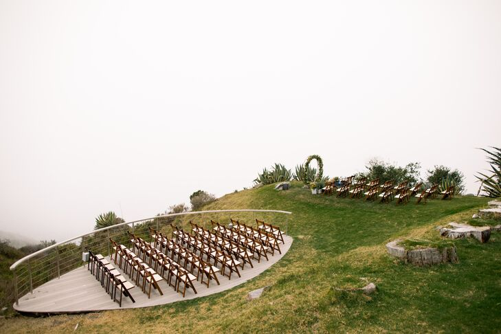 Unique Cliffside Ceremony Seating at Point 16 in Big Sur, California