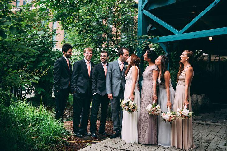 Assorted Floor-Length Bridesmaid Dresses
