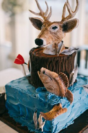 Deer-Head Groom's Cake