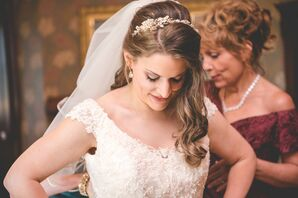 Gold Bridal Crystal Wedding Headband