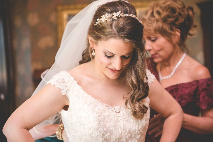 Gold Bridal Crystal Wedding Headband