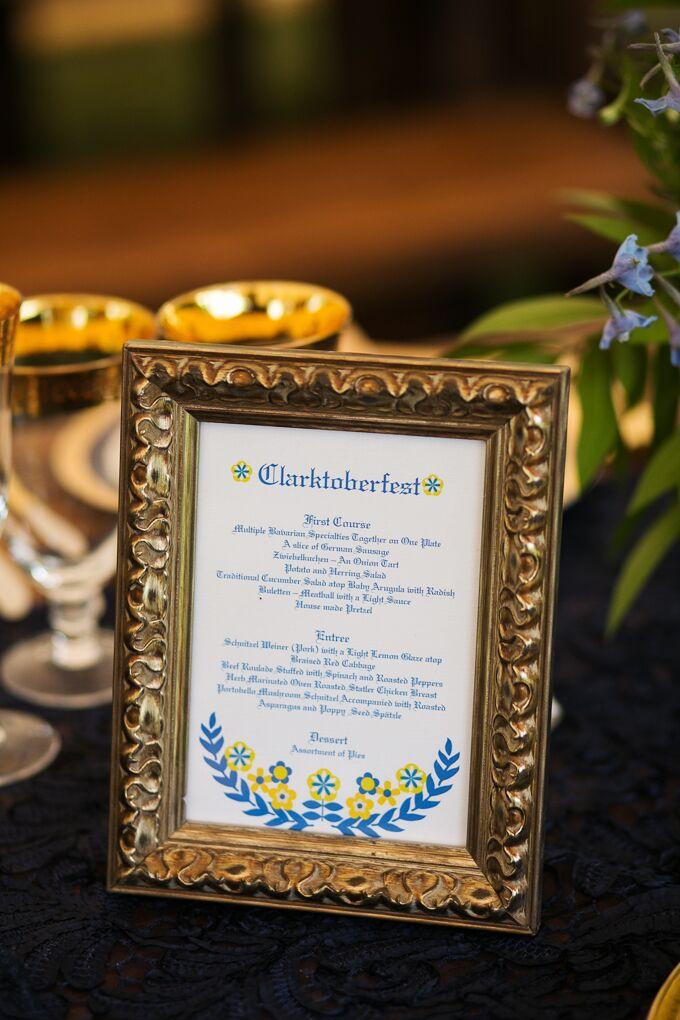 Oktoberfest Themed Wedding Menu