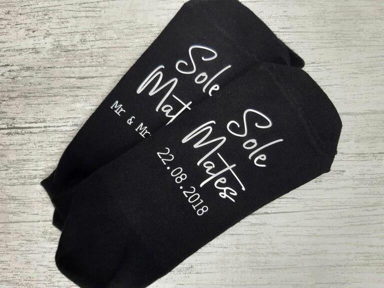 Sole Mates custom wedding socks