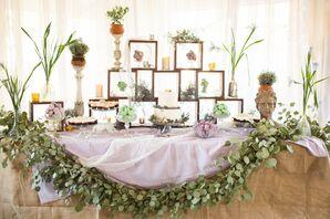 Garden-Inspired Dessert Display