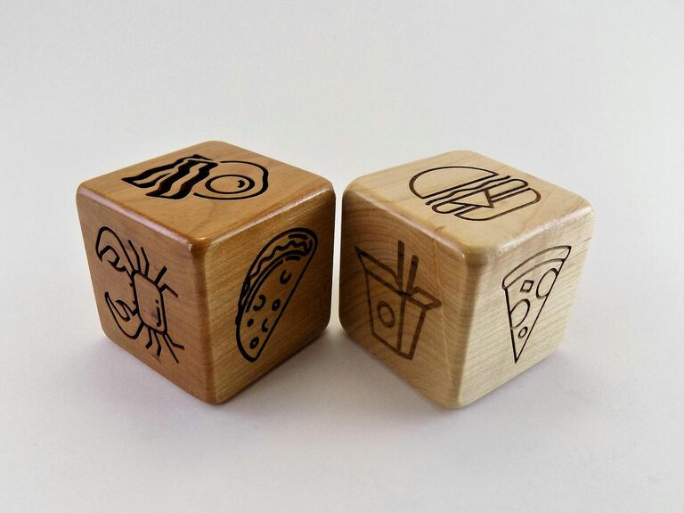 dinner dice funny gift for newlywed couple