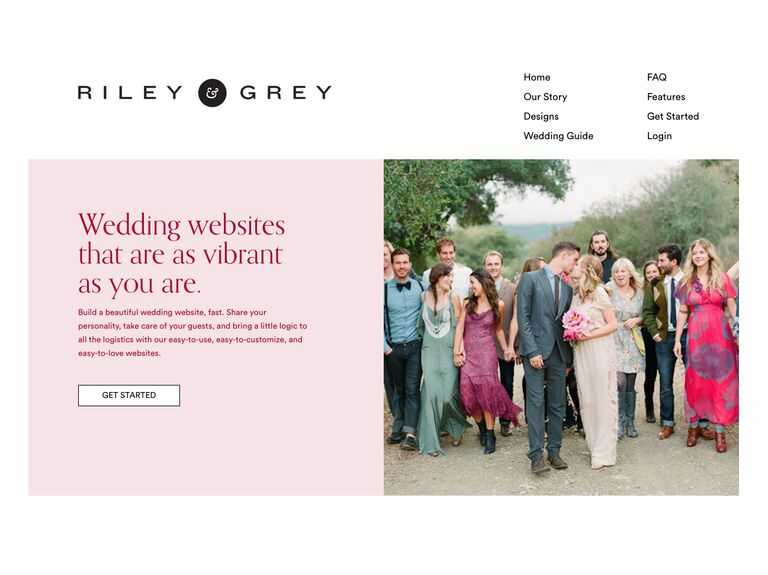 riley and grey wedding website templates