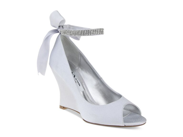 Nina Emma Evening Silver Wedding Wedges
