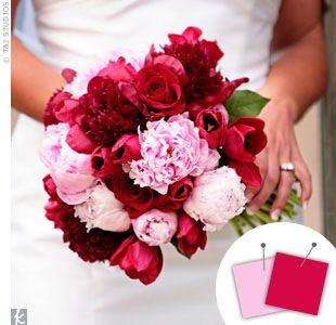 Wedding Color Combo: Light Pink + Fuchsia