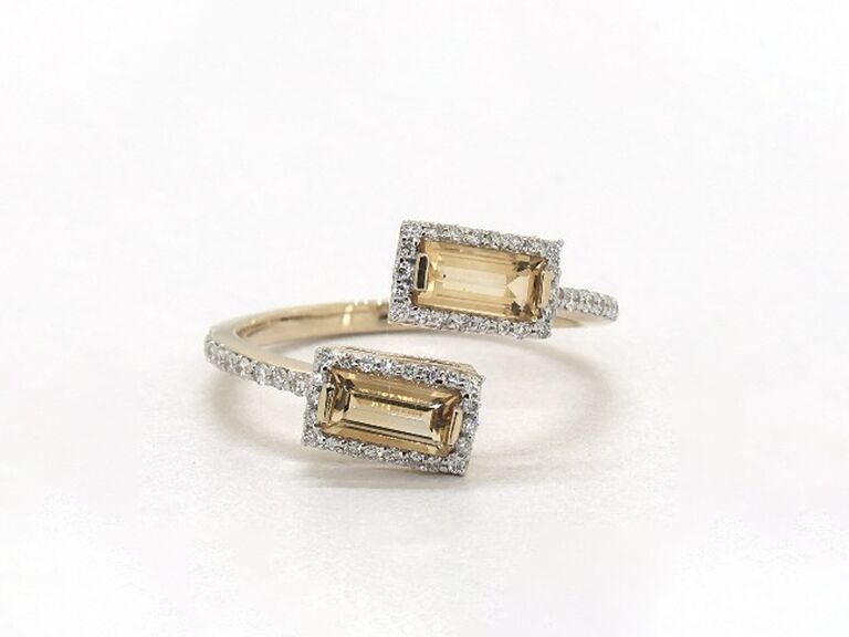 bypass band citrine ring