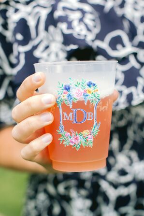 Whimsical Monogram on Plastic Cup