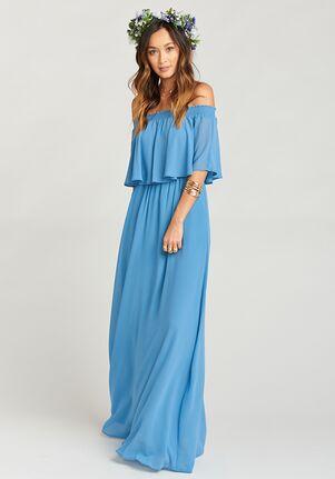 9480add50b Show Me Your Mumu. Hacienda Maxi Dress - Coastal Blue Chiffon